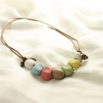 colorful stone necklace jewelry beautiful gift 39