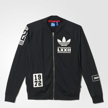 adidas Berlin Logo Badge Track Jacket - Black | adidas US