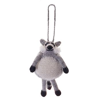 Alpaca Raccoon Ornament