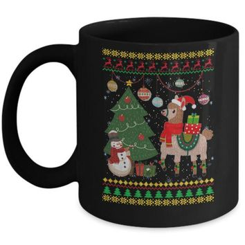 IKCKIJ3 Funny Llama Christmas Cute Family Ugly Sweater Mug