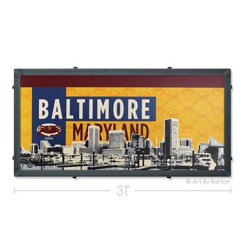 Old Bay Baltimore Skyline / Art Print
