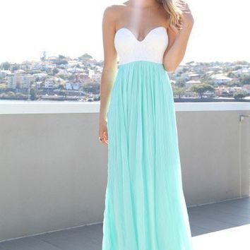SABO SKIRT  Mint Tea Maxi - $68.00