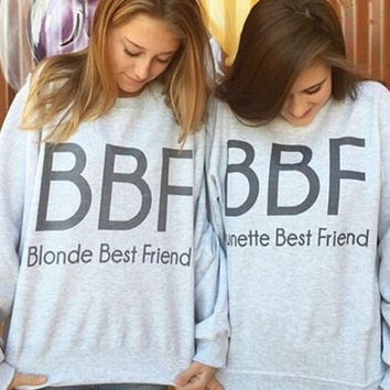 New Womens BBF Print Sweater Gift-35
