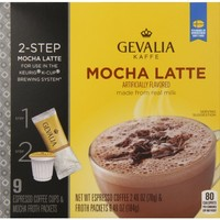 Gevalia Mocha Latte K-Cup Packs and Froth Packets, 9 count
