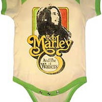 Bob Marley – Catch Fire Wailers Onesuit In Cream/Moss | Thirteen Vintage