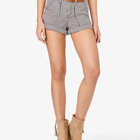 Railroad Stripe Woven Shorts | FOREVER 21 - 2021839314