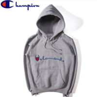 Vetements Hoodies Hooded Sporty Loose Sweater Male and Female Couples Gray