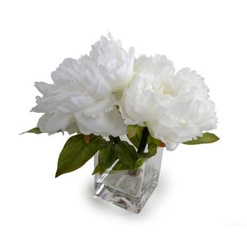 Coral Peonies Floral Arrangement in Vase