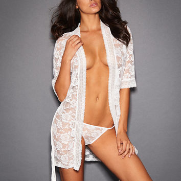 Erika All Over Lace Bridal Robe
