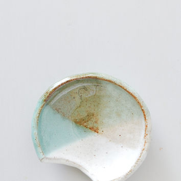 Spoon Rest - Terracotta Aqua