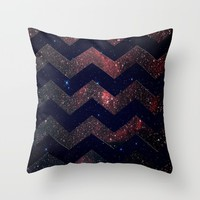 Chevron Sky Throw Pillow by Little_Biscuit