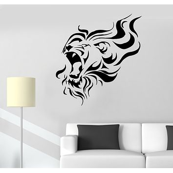 Wall Decal Lion Head Animal Roar Predator Beast Vinyl Sticker (ed1609)