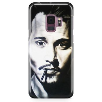 Johnny Depp Makeup Samsung Galaxy S9 Plus Case | Casefantasy