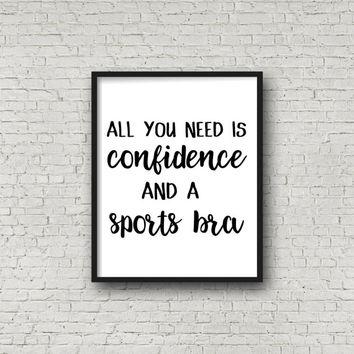 Gym Print, Sports Print, Motivational Print, Gym Decor, Printable Poster, Inspirational Quotes, Fitness Print, Fitness Poster, Quote Prints
