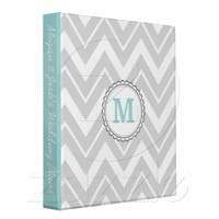 Gray Chevron 3 Ring Binder from Zazzle.com