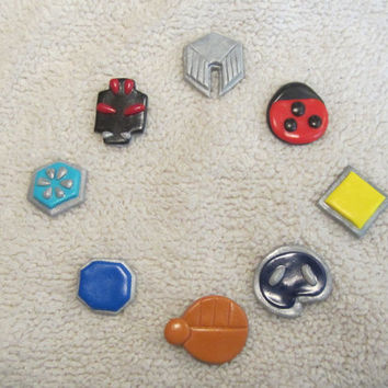 DISCOUNTED!! Pokemon Inspired: Johto Region Gym Badge Set - Wearable Pins or Refrigerator Magnets!