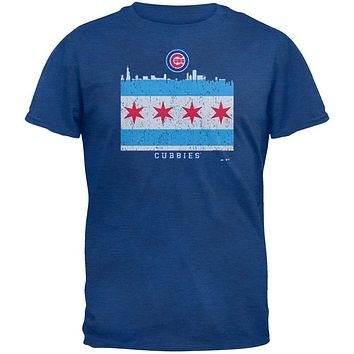 Chicago Cubs - NL Central 2015 Champs City Flag Soft Adult T-Shirt