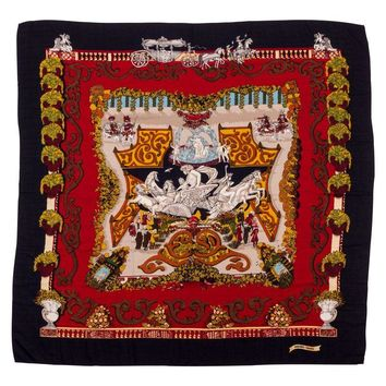 Pre-owned Hermes Oversized Cashmere Silk Shawl Scarf