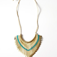 Gold Key Statement Necklace