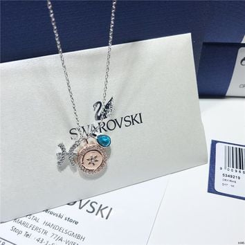 DCCK Swarovski Zodiac Pisces Variable Styling Constellation Necklace Clavicle Chain