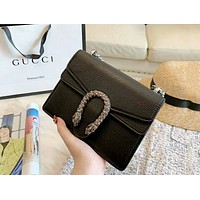 GUCCI Tide brand classic Bacchus bag female models wild chain bag diagonal package black