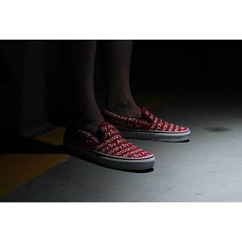 VANS x SUPREME x TNF Slip-On XH66 red Sneaker Casual Shoes