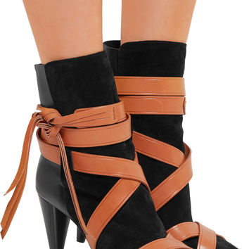 Nola suede and leather ankle boots | Isabel Marant | UK | THE OUTNET