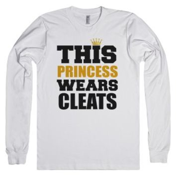 This Soccer Princess Wears Cleats-Unisex White T-Shirt