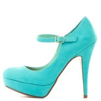 Platform Mary Jane Pumps by Charlotte Russe - Mint
