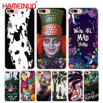 HAMEINUO Alice in Wonderland cell phone Cover case for iphone 6 4 4s 5 5s SE 5c 6 6s 7 8 X plus