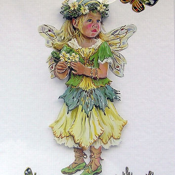Fairy Hand-Crafted 3D Decoupage Card - With Love (1749)