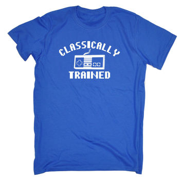 123t USA Men's Video Games Classically Trained Funny T-Shirt