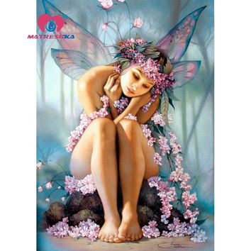 diamond painting picture of rhinestones fairy Diamond embroidery Cross-stitch kits Mosaic drawings 3d embroidery Hobby Canvas 5d