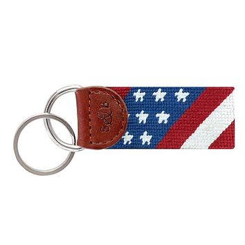 Star Spangled Banner Needlepoint Key Fob by Smathers & Branson