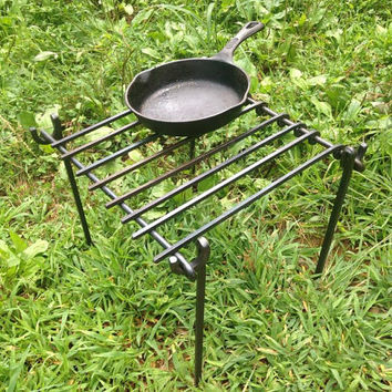 Handforged Iron Grills, Camp Grill, Boy Scout Grill, Blacksmith Grill, Iron Camp Grill, Portable Griller