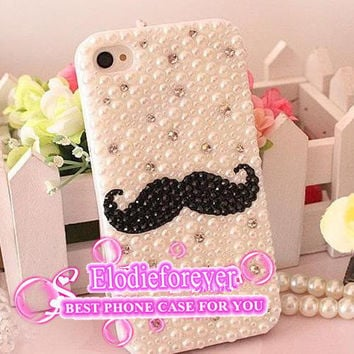 Mustache Iphone Case,Beard iPhone case,Beard iphone 5 case, Beard iPhone 4 case,Beard iphone 5 cover,Mustache iphone 5 cover, A95