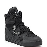 Marc by Marc Jacobs - Ninja Leather & Textile High-Top Sneakers - Saks Fifth Avenue Mobile