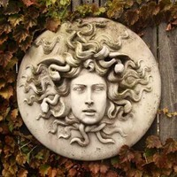 Medusa with Snakes Garden Wall Plaque 18H