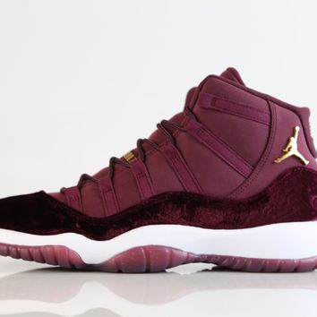 BC DCCK Nike Air Jordan Retro 11 RL Girls GG GS Heiress Red Velvet Night Maroon Gold 852625-650