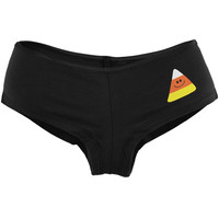 Halloween Candy Corn Women's Booty Shorts