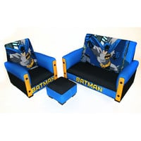 Komfy Kings, Inc 90054 Batman Deluxe Toddler Sofa, Chair and Ottoman
