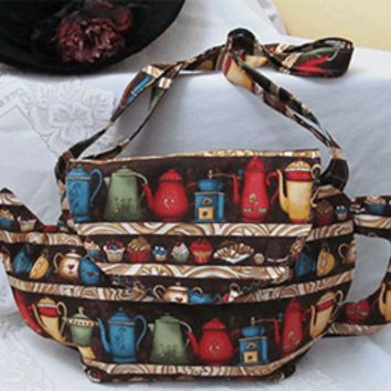 Teapots on Shelves Teapot Shaped Large Purse - Only 1 available!