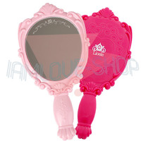 [Lioele] Handy Princess Mirror 2 Colors Pick One! Pink Cute Small Easy to Carry
