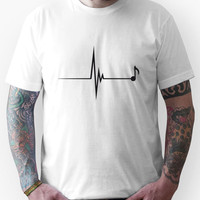 Heartbeat Music Note Pulse Unisex T-Shirt