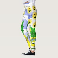 Cute monster pineapple illustration leggings