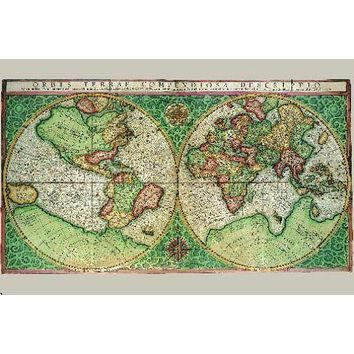 Antique Maps Poster 24inx36in #5