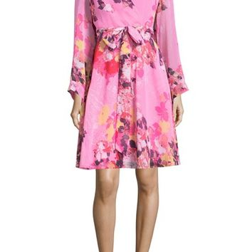 ECI Floral Print Wrap Dress | Nordstrom