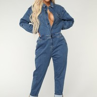 Kim Mona Jumpsuit - Denim