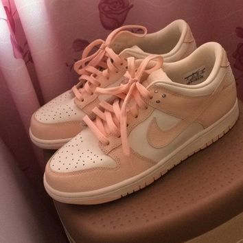 "NIKE WMNS DUNK LOW ""SAIL SUNSET TINT""Pink"" Sneaker 311369-104"