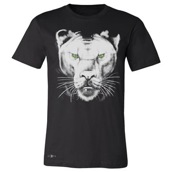 "Zexpa Apparelâ""¢ Majestic Panter with Green Eyes Men's T-shirt Wild Animal Tee"